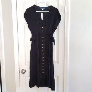 Francesca's Jayme Side Tie Midi Dress